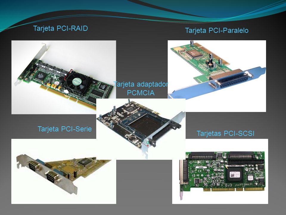 Tarjeta PCI-RAID Tarjeta PCI-Paralelo Tarjeta PCI-Serie Tarjetas PCI-SCSI Tarjeta adaptador PCMCIA