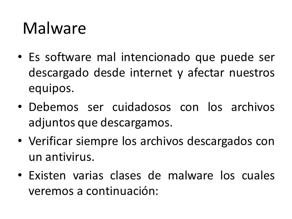 Malware Virus Gusanos Troyanos Rootkits Spyware Adware