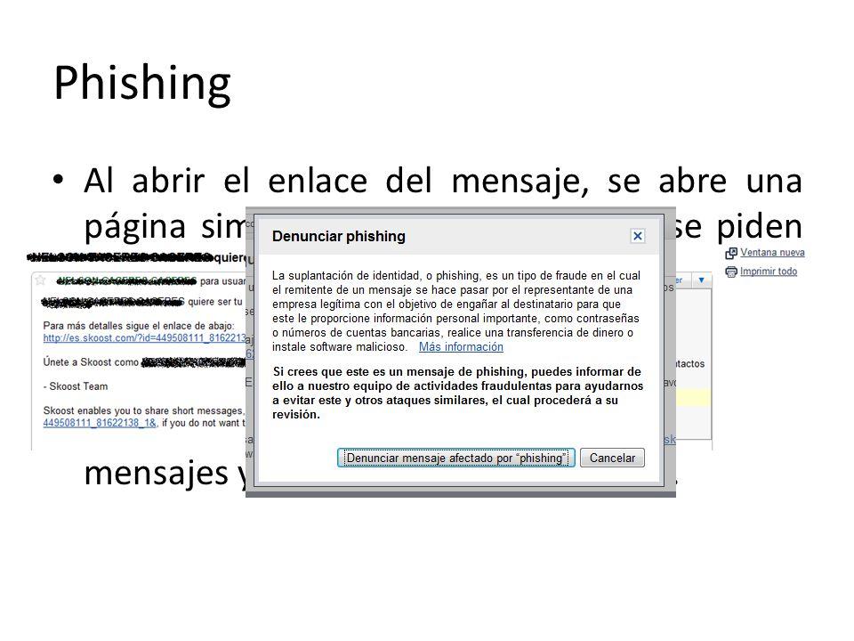 Recordemos que: – No debemos suministrar nunca información personal que se pide por medio de correos electrónicos sospechosos.