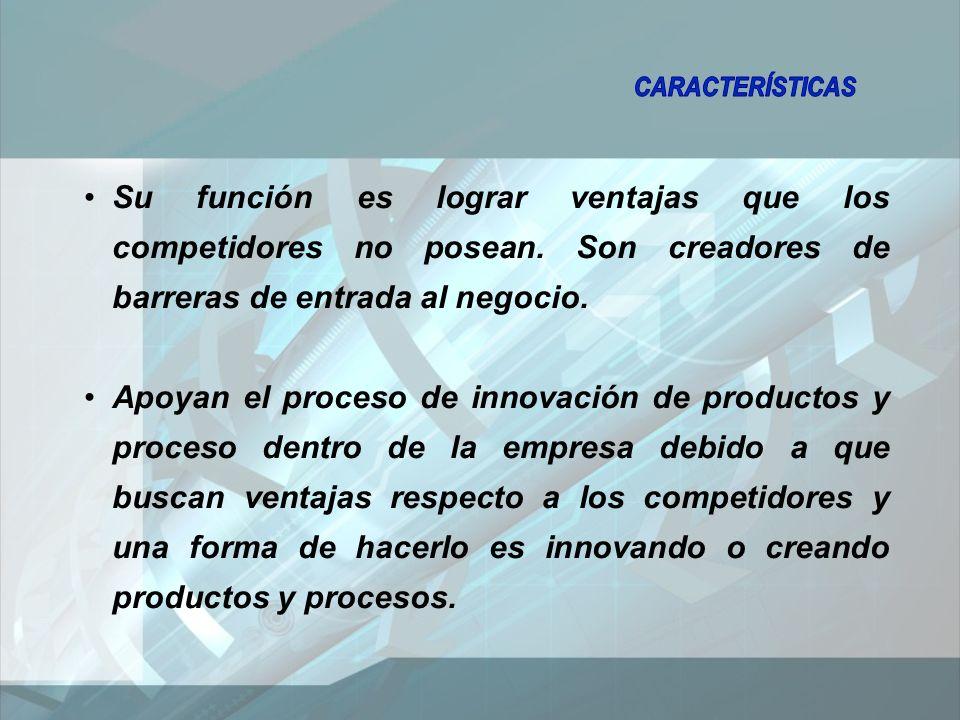 Su función es lograr ventajas que los competidores no posean.