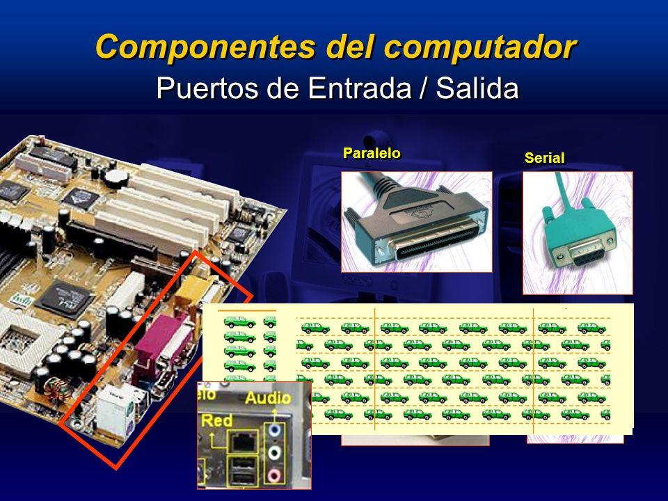 Componentes del computador Serial Paralelo USB Puertos de Entrada / Salida PS/2