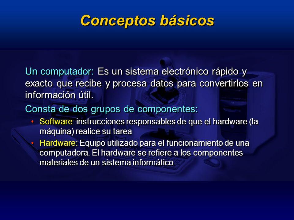 Principales componentes Dispositivos de entrada Dispositivos de salida Dispositivos de procesamiento Dispositivos de almacenamiento Dispositivos de entrada Dispositivos de salida Dispositivos de procesamiento Dispositivos de almacenamiento