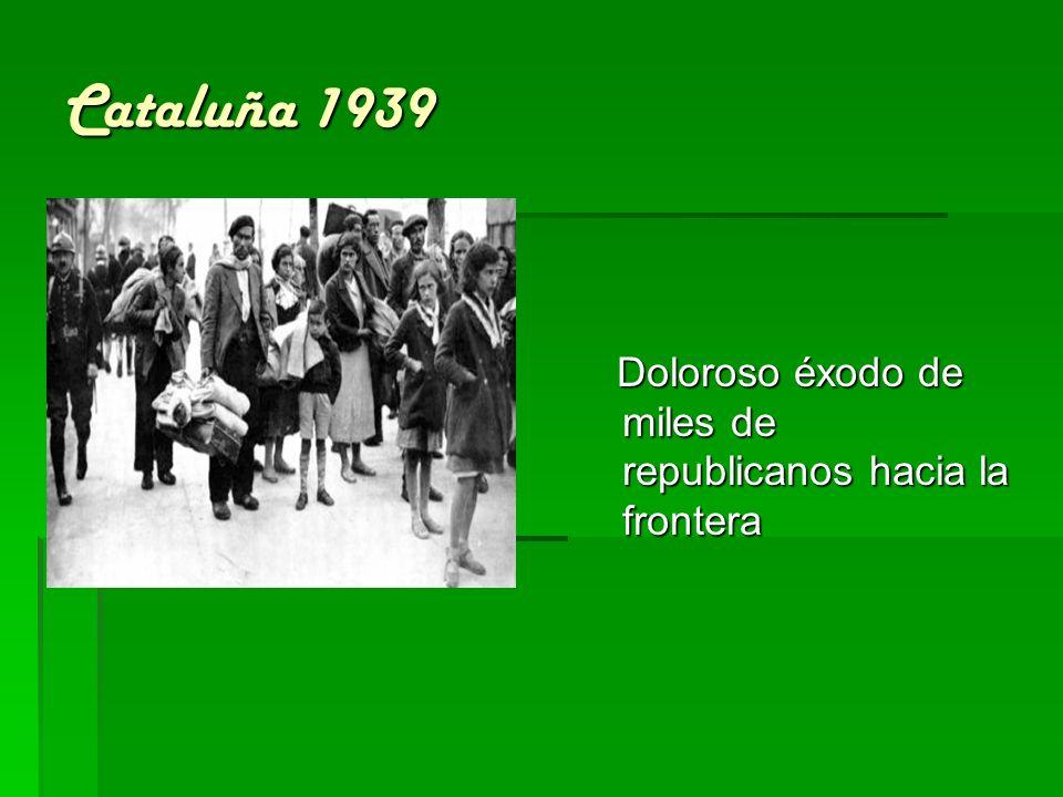 Cataluña 1939 Doloroso éxodo de miles de republicanos hacia la frontera Doloroso éxodo de miles de republicanos hacia la frontera