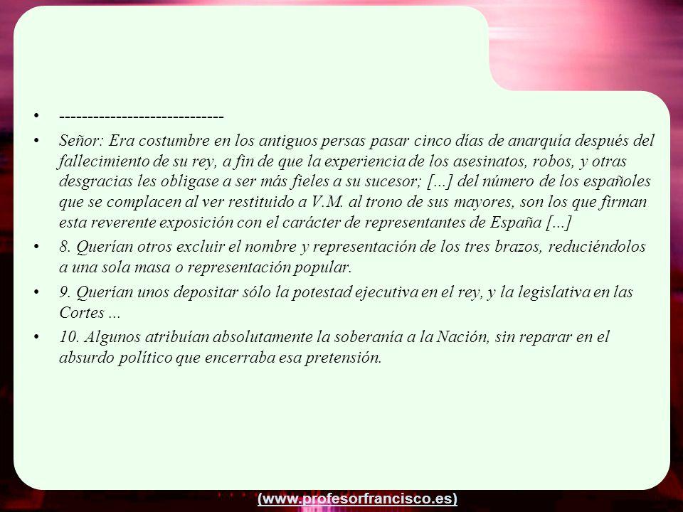 (www.profesorfrancisco.es) ----------------------------- Señor: Era costumbre en los antiguos persas pasar cinco días de anarquía después del fallecim