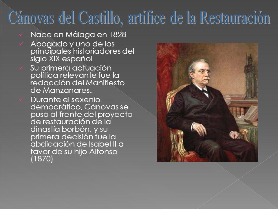 Nace en Málaga en 1828 Abogado y uno de los principales historiadores del siglo XIX español Su primera actuación política relevante fue la redacción d