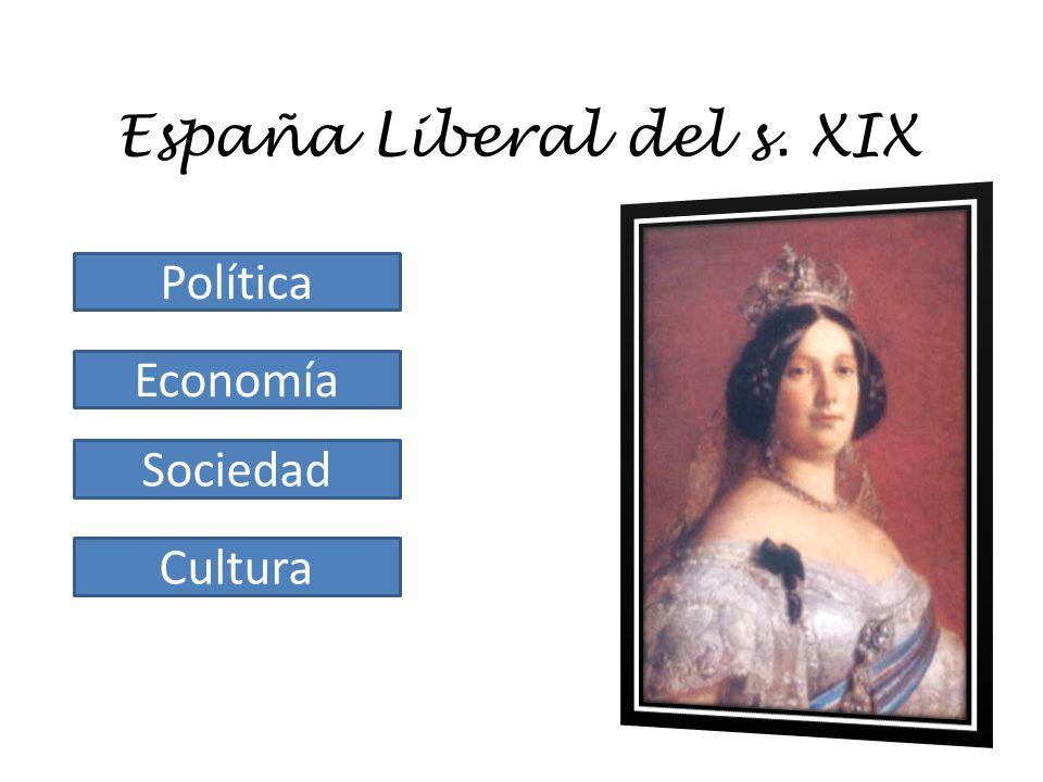España Liberal del s. XIX Política Economía Sociedad Cultura
