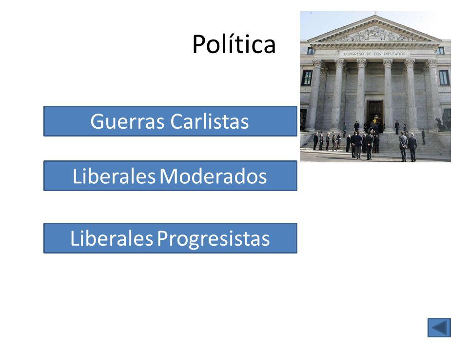 Política Liberales Moderados Liberales Progresistas Guerras Carlistas