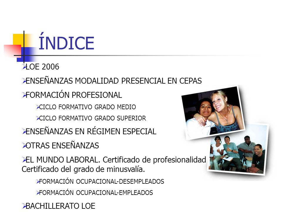 Nivel II- CEPA adultos Sistema Educativo Español LOE