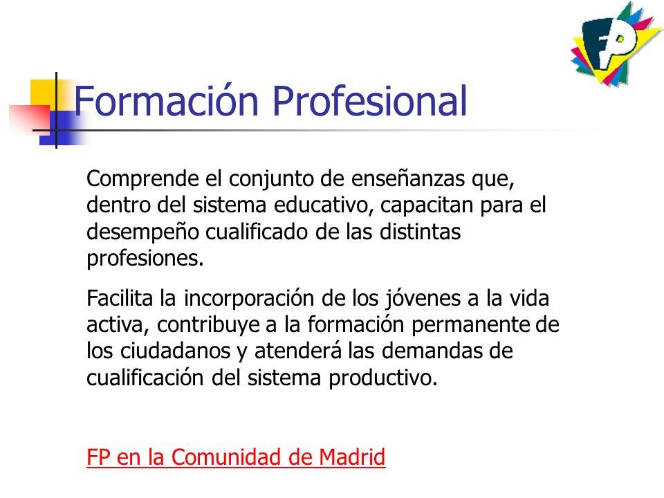 Ciclos Formativos D os niveles en función de la cualificación profesional alcanzada: * Ciclo formativo de Grado Medio.