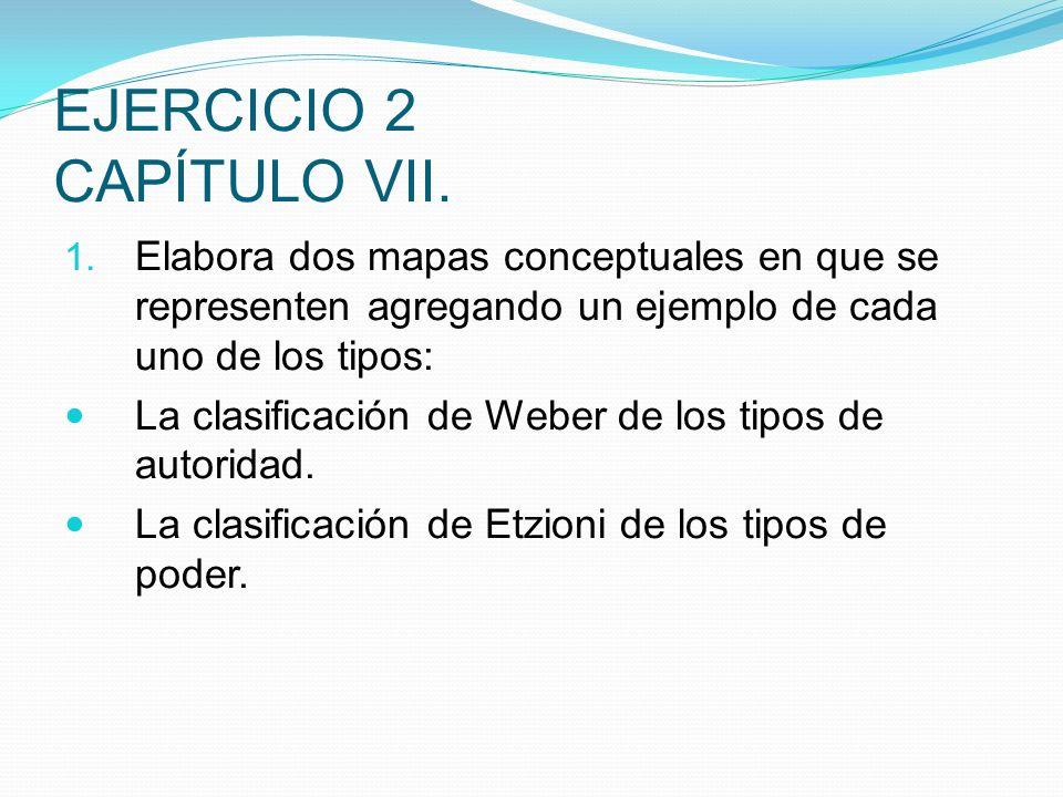 EJERCICIO 2 CAPÍTULO VII. 1. Elabora dos mapas conceptuales en que se representen agregando un ejemplo de cada uno de los tipos: La clasificación de W