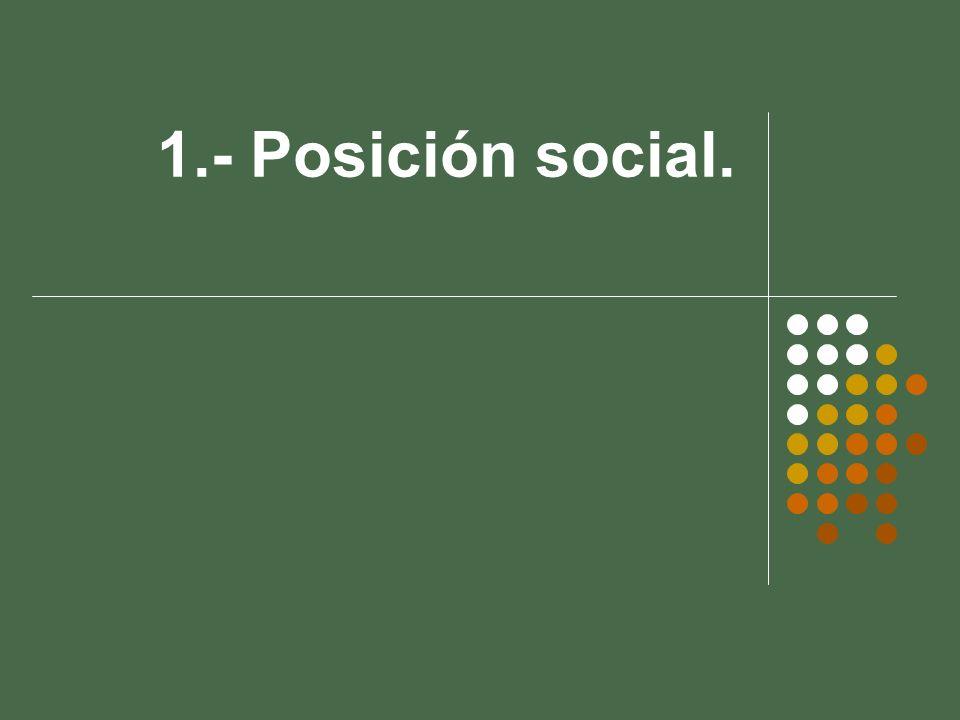 1.- Posición social.