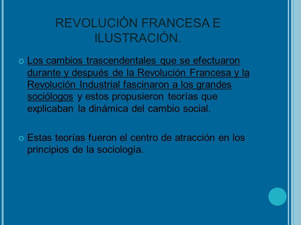 REVOLUCIÓN FRANCESA E ILUSTRACIÓN. Los cambios trascendentales que se efectuaron durante y después de la Revolución Francesa y la Revolución Industria