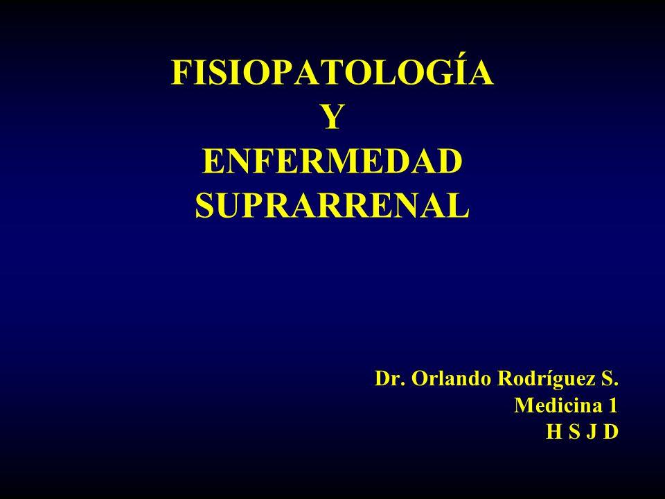 FISIOPATOLOGÍA Y ENFERMEDAD SUPRARRENAL Dr. Orlando Rodríguez S. Medicina 1 H S J D