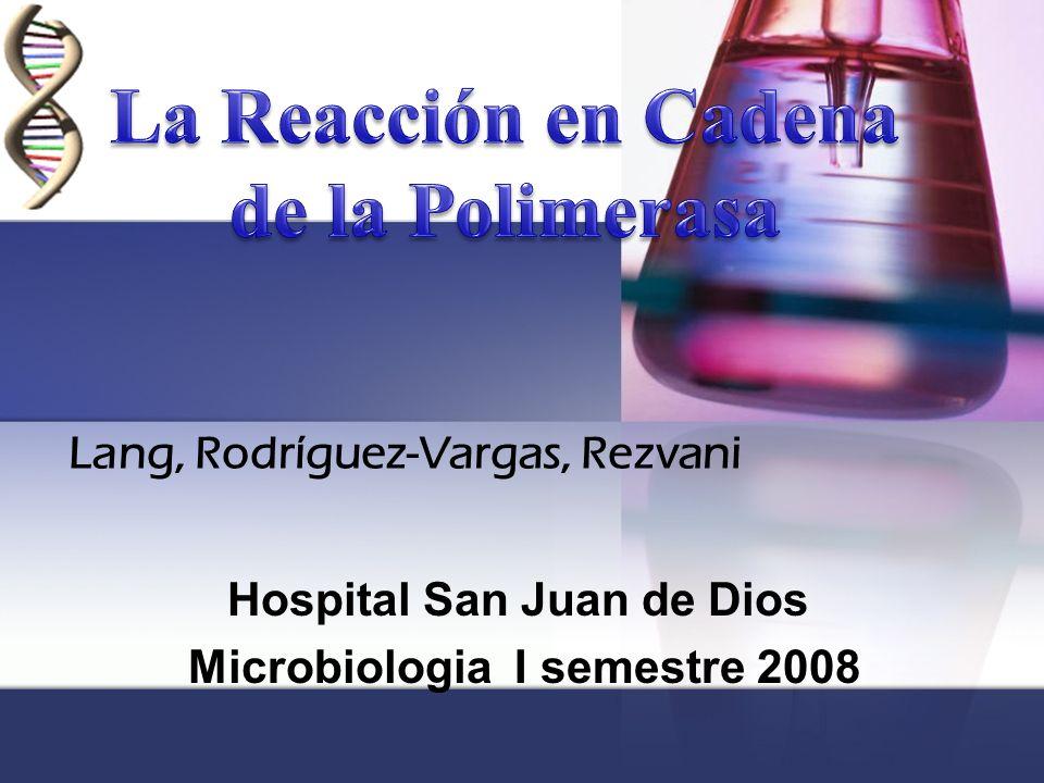 Hospital San Juan de Dios Microbiologia I semestre 2008 Lang, Rodríguez-Vargas, Rezvani