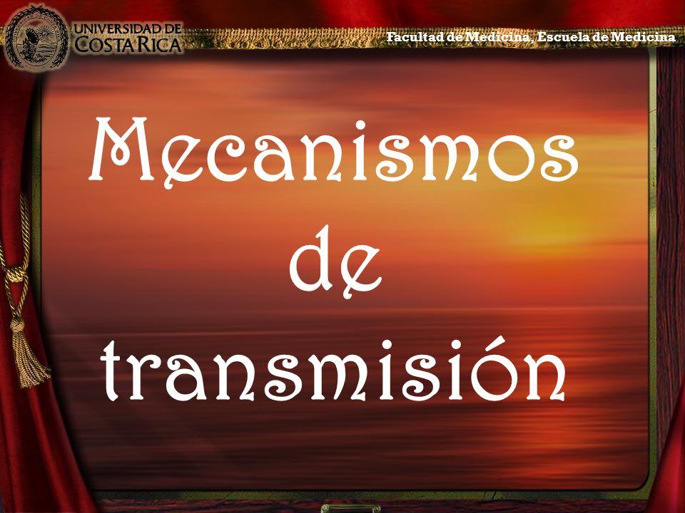 Mecanismos de transmisión Facultad de Medicina, Escuela de Medicina