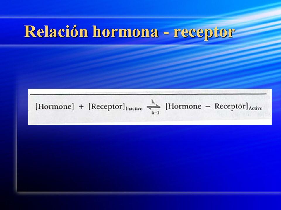 Relación hormona - receptor