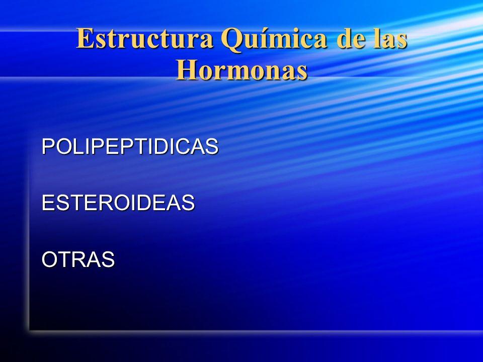 Estructura Química de las Hormonas POLIPEPTIDICASESTEROIDEASOTRAS
