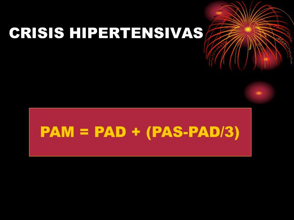 CRISIS HIPERTENSIVAS PAM = PAD + (PAS-PAD/3)