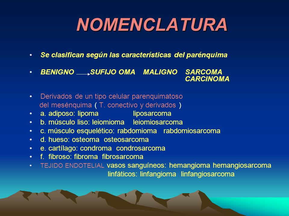 metástasis Linfática: carcinomas hematógena: sarcomas