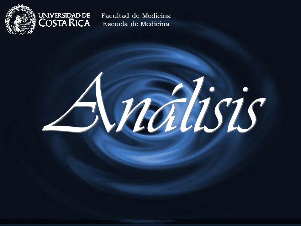Análisis Facultad de Medicina Escuela de Medicina