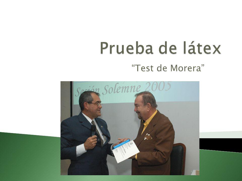 Test de Morera