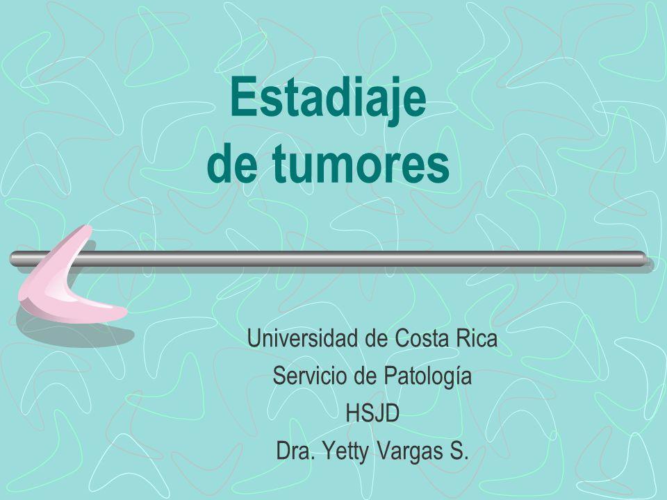 Estadiaje de tumores Universidad de Costa Rica Servicio de Patología HSJD Dra. Yetty Vargas S.
