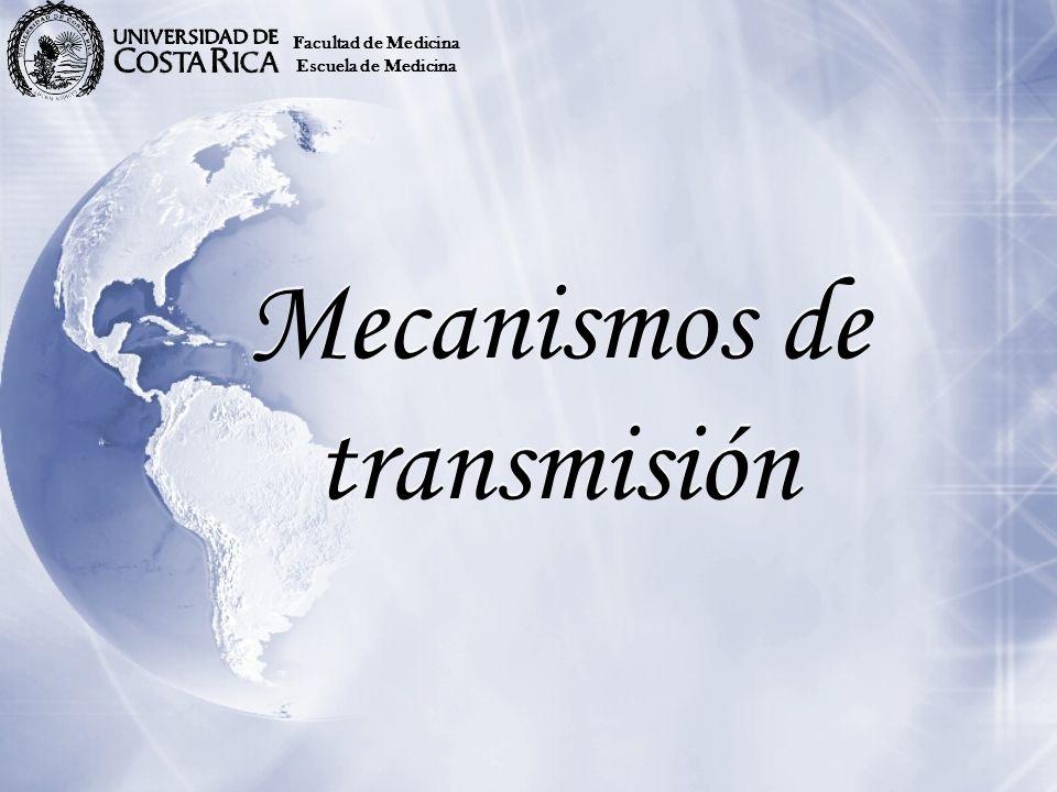 Mecanismos de transmisión Facultad de Medicina Escuela de Medicina