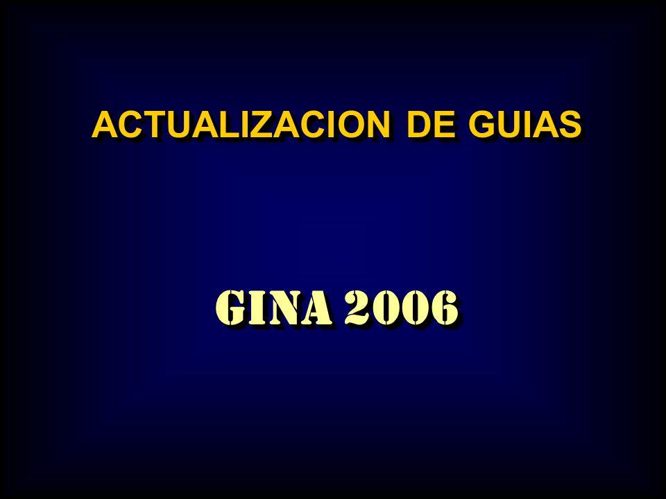 Este grupo de diapositivas esta basado en las guías GINA 2006 El texto completo de las guías las puede encontrar en la dirección de internet www.ginasthma.com