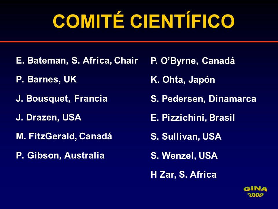 COMITÉ CIENTÍFICO E. Bateman, S. Africa, Chair P. Barnes, UK J. Bousquet, Francia J. Drazen, USA M. FitzGerald, Canadá P. Gibson, Australia P. OByrne,