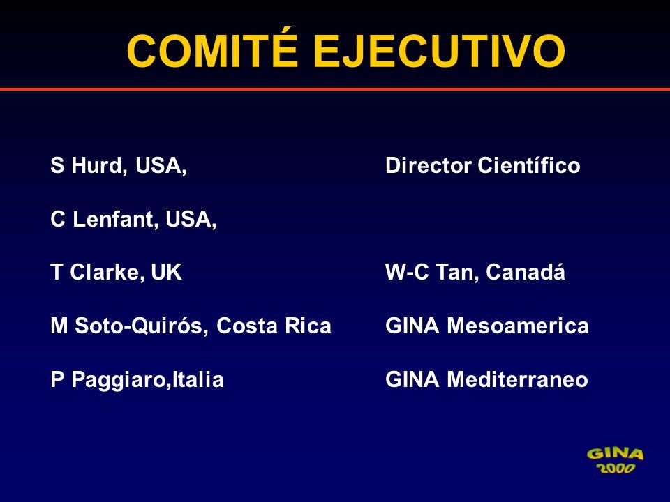 COMITÉ EJECUTIVO S Hurd, USA, Director Científico C Lenfant, USA, T Clarke, UK W-C Tan, Canadá M Soto-Quirós, Costa Rica GINA Mesoamerica P Paggiaro,I