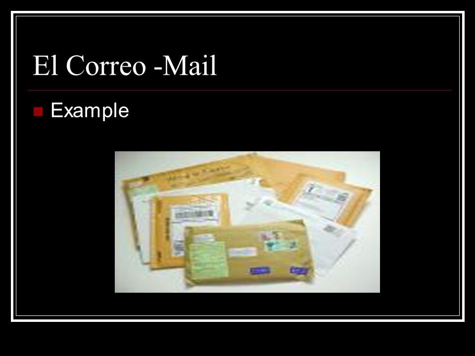 El/La Cartero -Mail Carrier Example