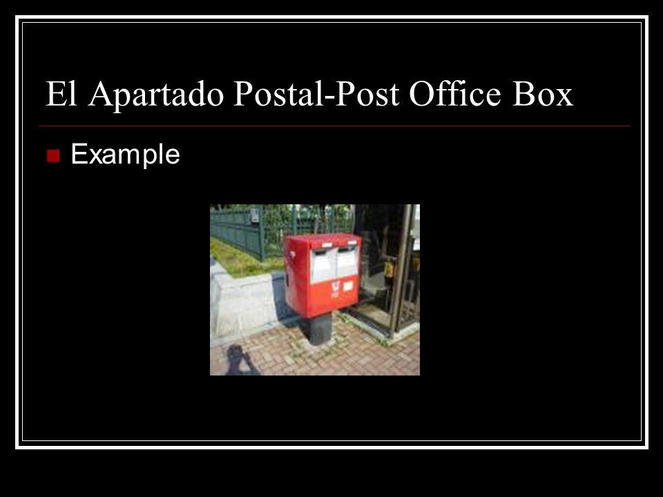 La Casilla -Post Office Box Example