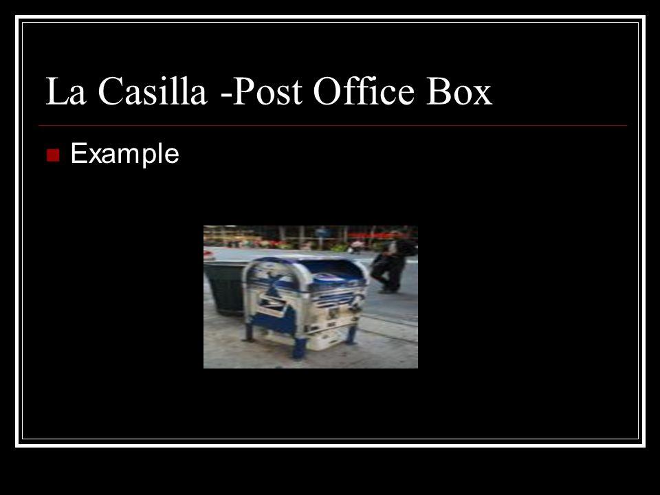 El Sello -Stamp Example
