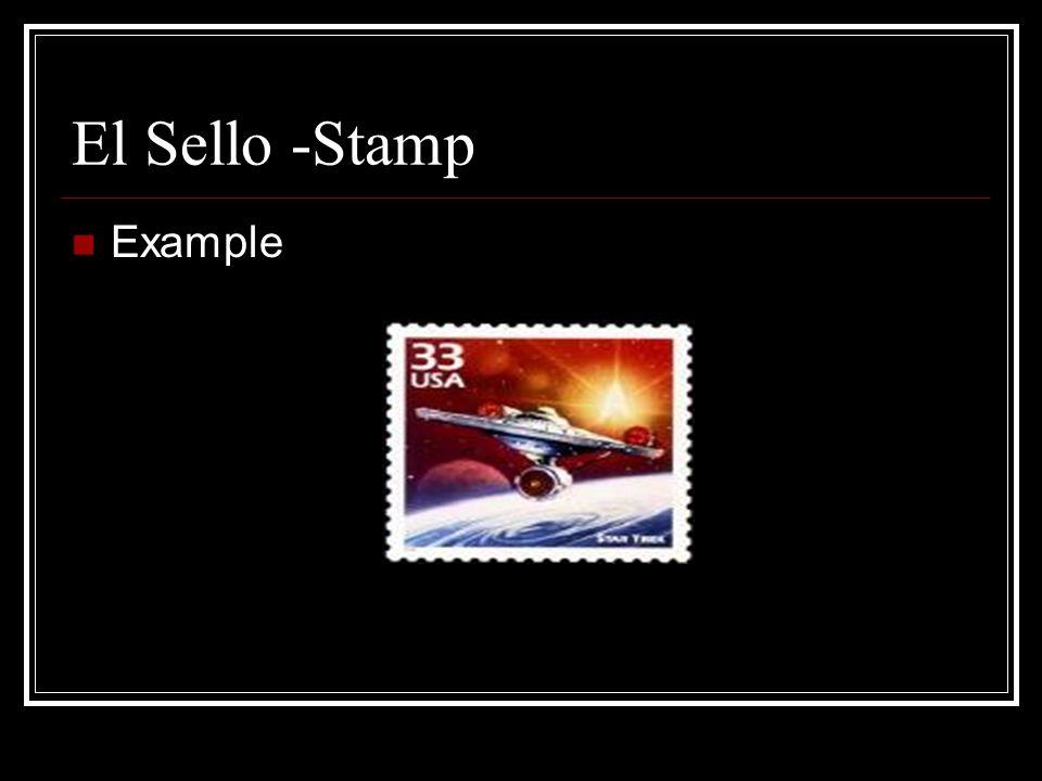 La Estampilla -Stamp Example