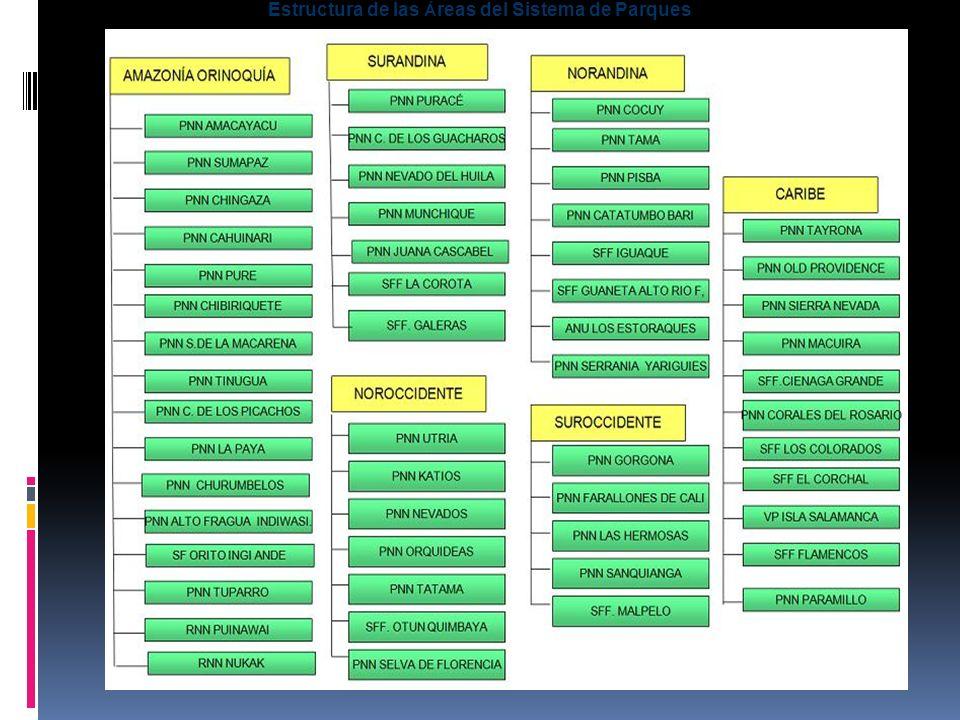 Estructura de las Á reas del Sistema de Parques