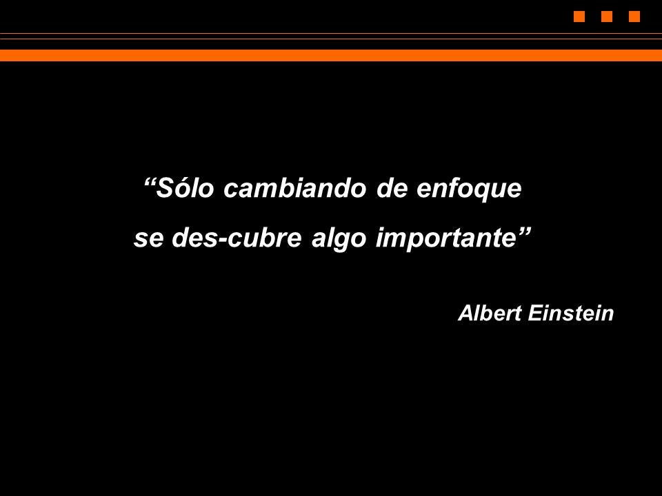 Sólo cambiando de enfoque se des-cubre algo importante Albert Einstein