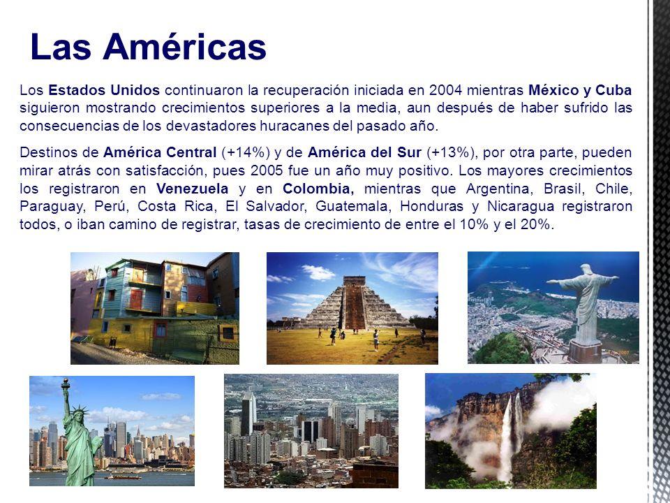 7 Las Américas Los Estados Unidos continuaron la recuperación iniciada en 2004 mientras México y Cuba siguieron mostrando crecimientos superiores a la media, aun después de haber sufrido las consecuencias de los devastadores huracanes del pasado año.