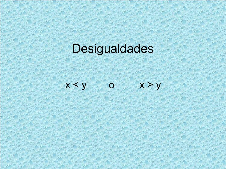 x y Desigualdades