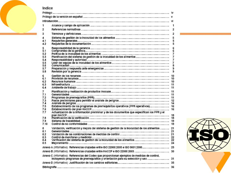 6.3 Contenidos de la Norma ISO 22000.