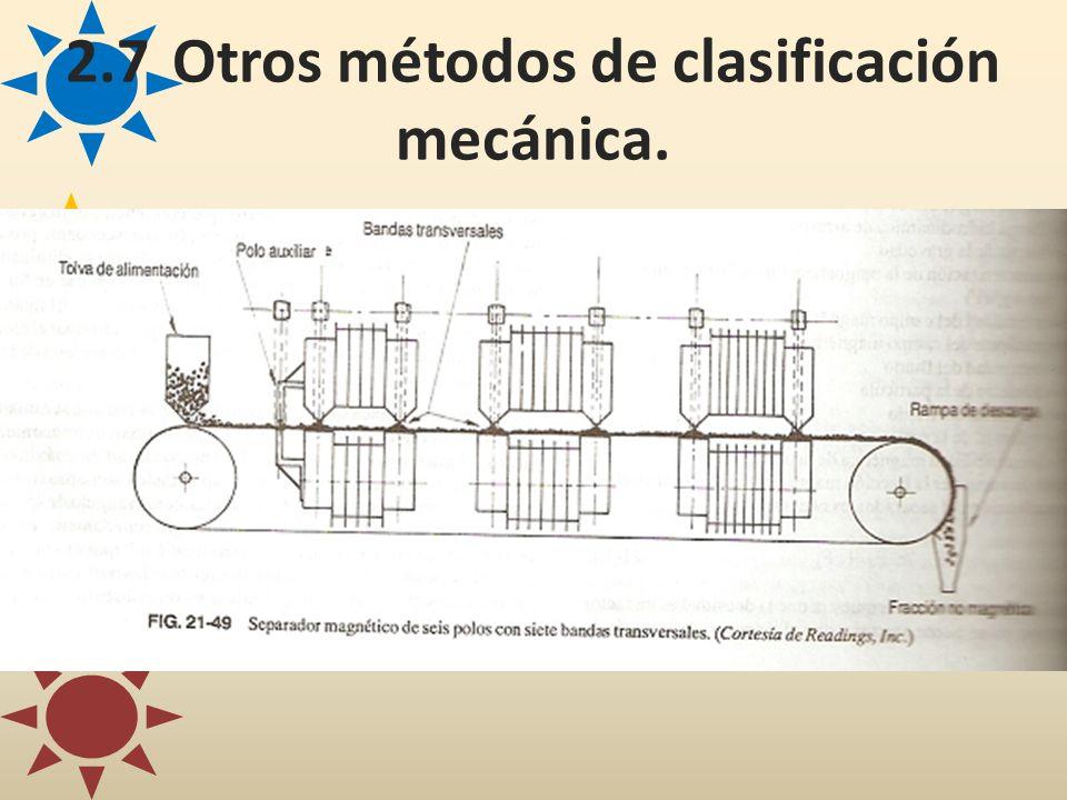 2.7Otros métodos de clasificación mecánica.