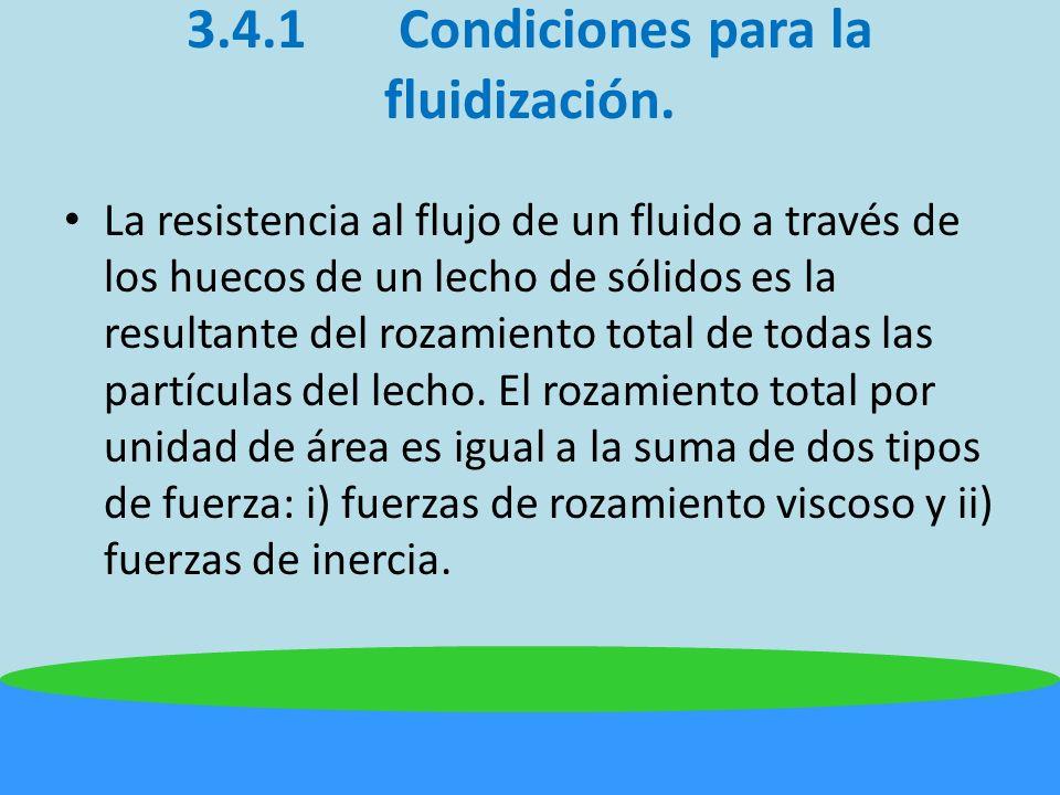 3.4.1Condiciones para la fluidización.