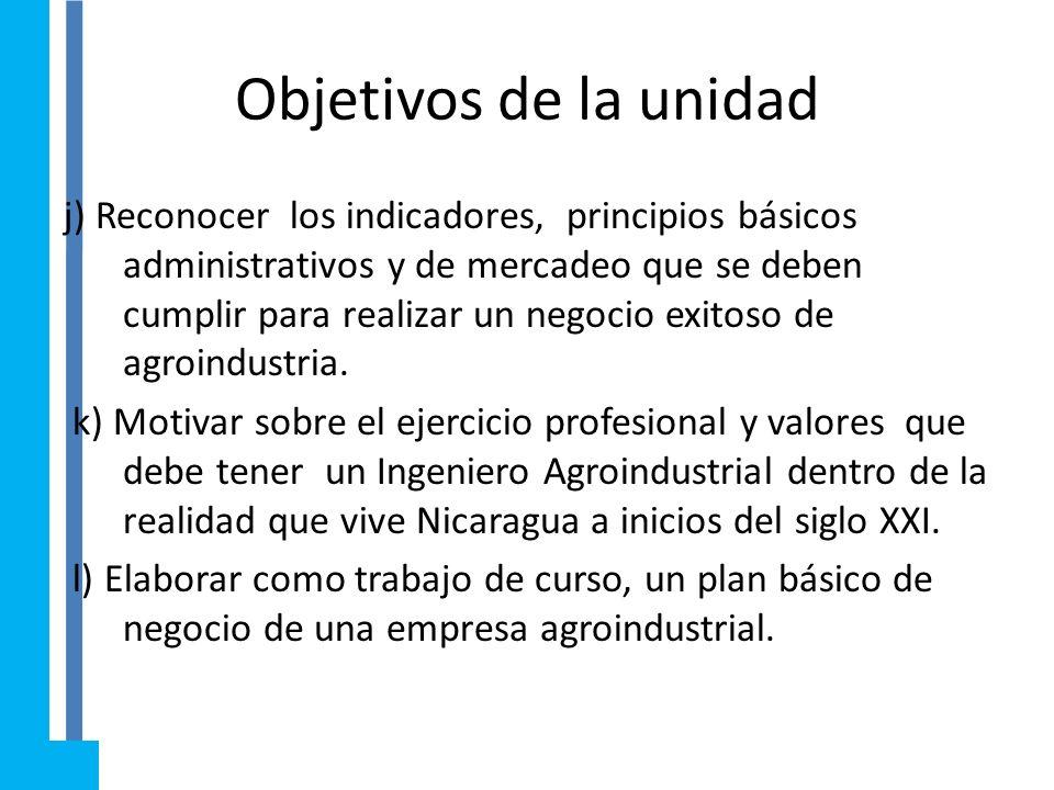 Introducción a la Ingenieria Agroindustrial II Unidad V: Negocios Agroindustriales Contenidos: 5.1 Oportunidad y valores éticos, al hacer un negocio.