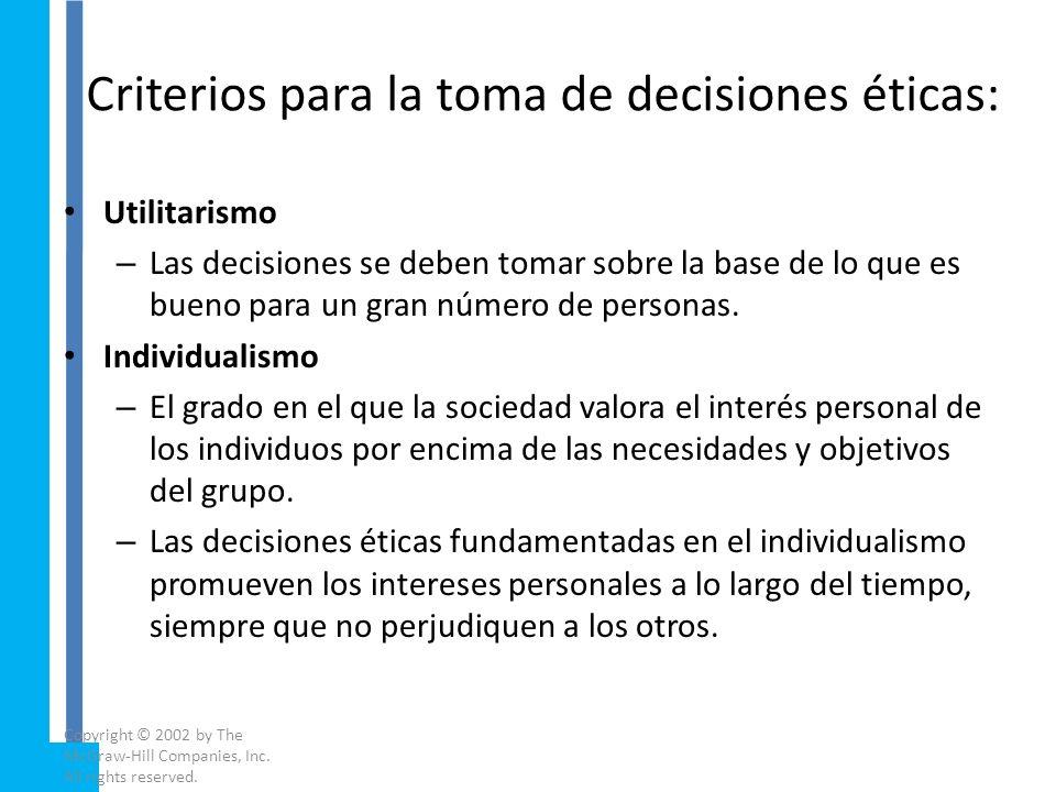 ¿Qué es la ética en los negocios? Las personas operan bajo diferentes sistemas de valores éticos en función de: – Su Experiencia Personal – Su Formaci