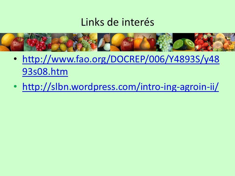 Links de interés http://www.fao.org/DOCREP/006/Y4893S/y48 93s08.htm http://www.fao.org/DOCREP/006/Y4893S/y48 93s08.htm http://slbn.wordpress.com/intro