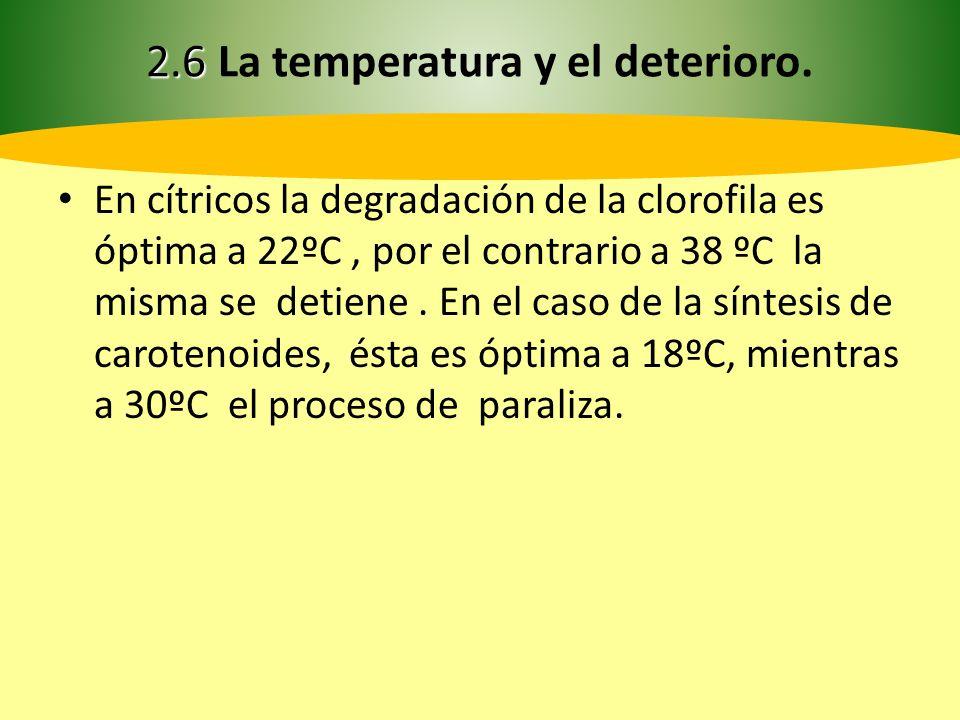 2.6 2.6 La temperatura y el deterioro.