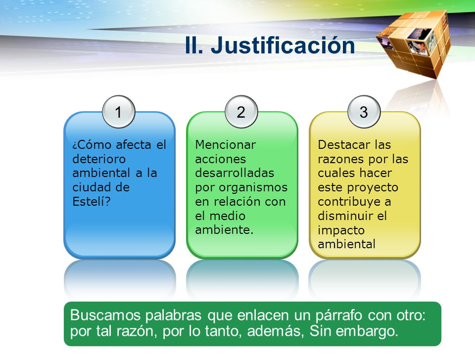 II. Justificación 1 ¿ Cómo afecta el deterioro ambiental a la ciudad de Estelí? 2 Mencionar acciones desarrolladas por organismos en relación con el m