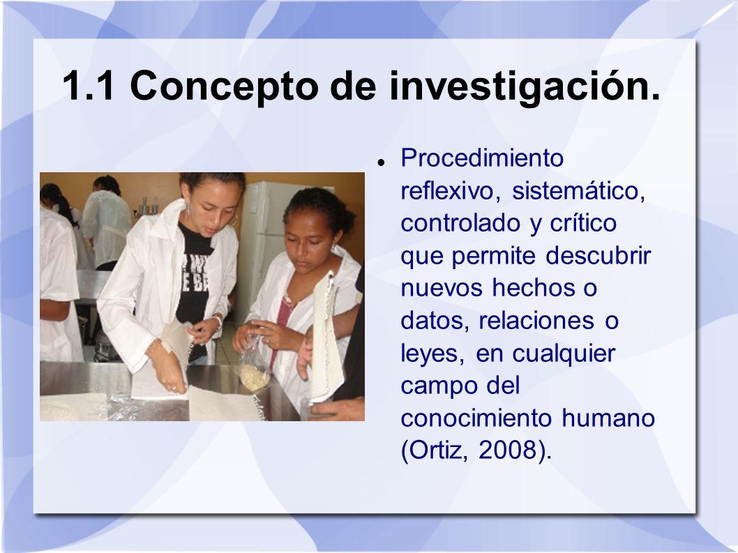 Procedimiento reflexivo, sistemático, controlado y crítico que permite descubrir nuevos hechos o datos, relaciones o leyes, en cualquier campo del con