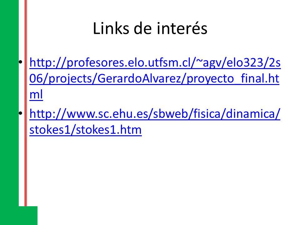 Links de interés http://profesores.elo.utfsm.cl/~agv/elo323/2s 06/projects/GerardoAlvarez/proyecto_final.ht ml http://profesores.elo.utfsm.cl/~agv/elo