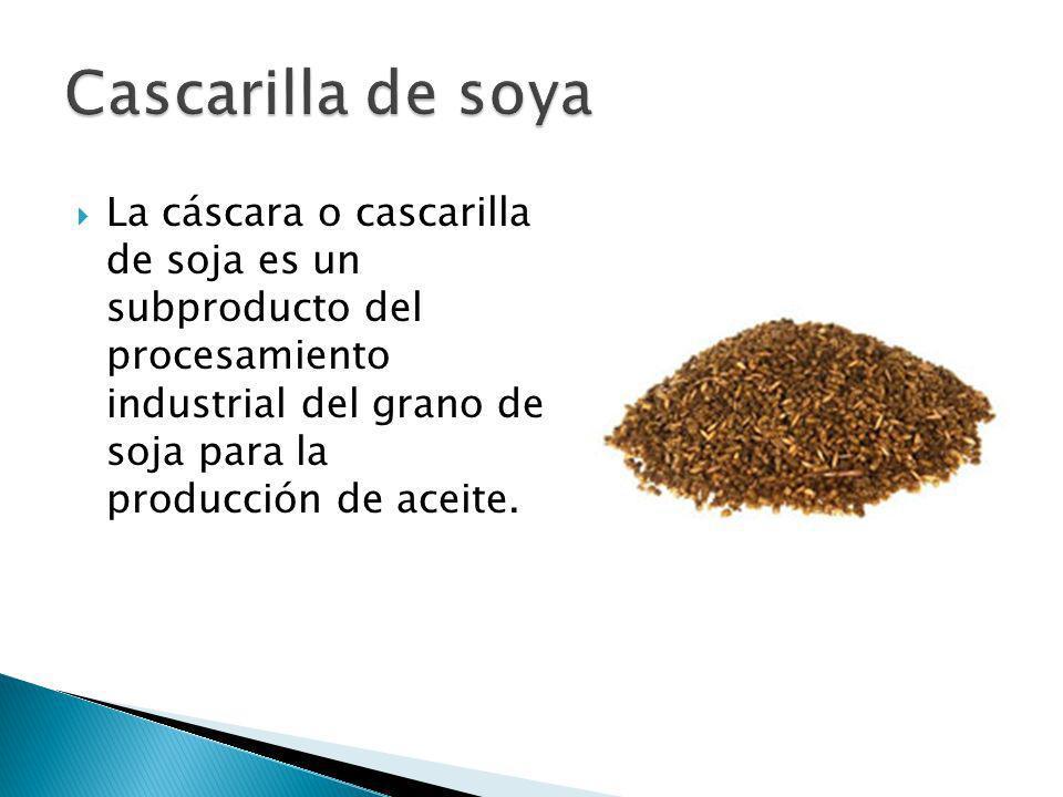 La cascarilla de soja cuando no está pelleteada resulta ser muy liviana, siendo fácilmente volada por el viento.