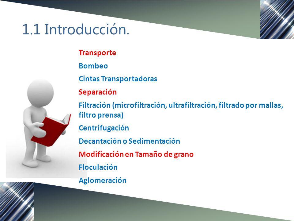 1.1 Introducción Importancia de su estudio - Facilitan el estudio de los procesos y es posible diseñar nuevos.